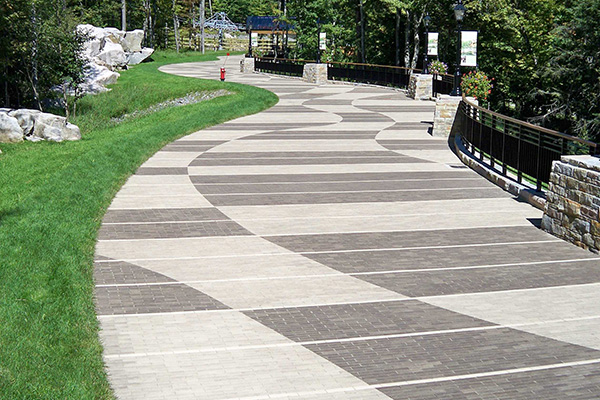 Sidewalk with pavement installation