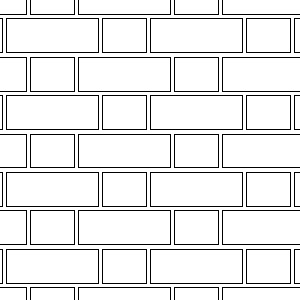 Flemish bond thin brick pattern
