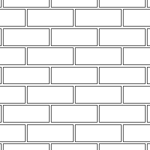 Running bond brick pattern