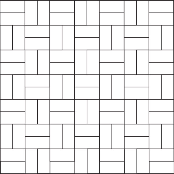 Basket weaver paver pattern