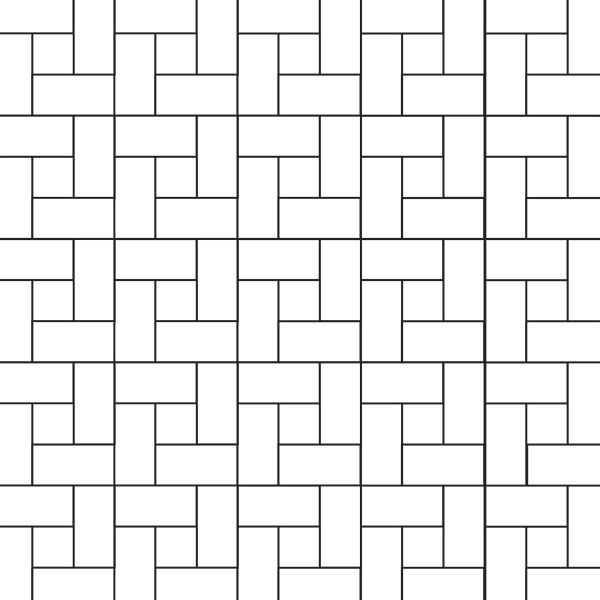 Spanish bond paver pattern